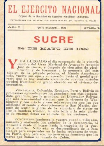 Centenario Antonio José de Sucre 24 de Mayo de 1922