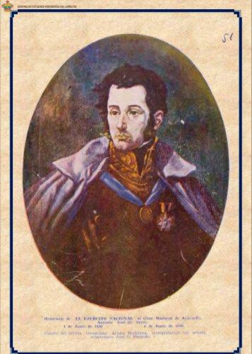 Homenaje del Ejército Nacional al General Antonio José de Sucre