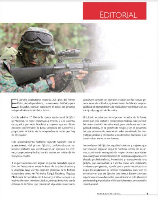 Revista Ejército Nacional 196
