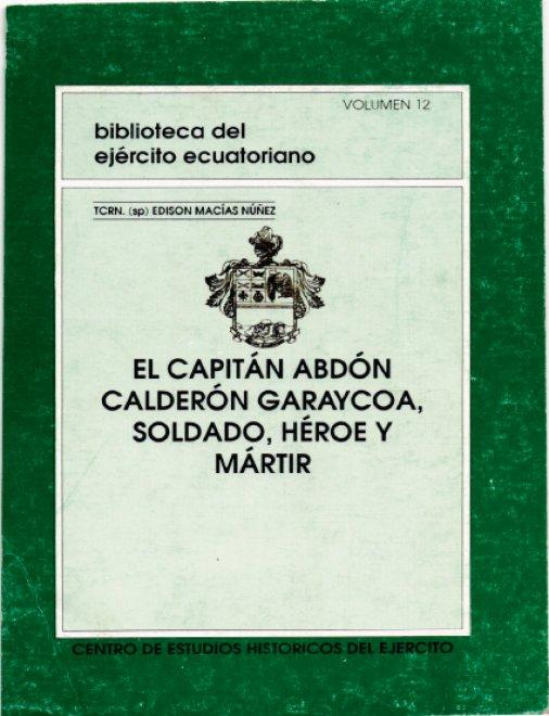 El Capitán Abdón Calderón